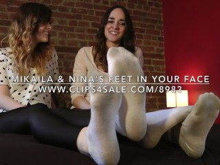Mikaila & Nina's Feet in Your Face - www.c4s.com/8983/15982558