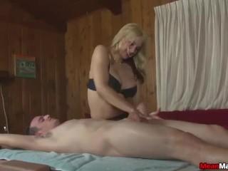 Sexy blonde masseuse