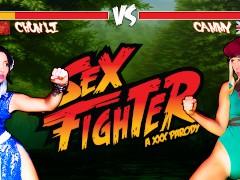 Sex Fighter: Chun Li vs. Cammy (XXX Parody) - Brazzers
