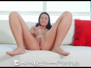 MyVeryFirstTime - NewComer Lily Adams kills it at her first ever scene