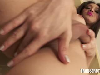 TRANSEROTICA Asian Shemale gets naked and masturbates