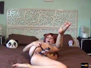 Now, Misty/Ondine (pokemon), catches sextoys with her tight pussy and ASS!