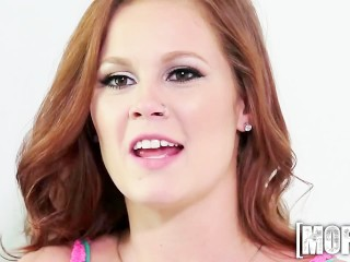 Mofos - Reagan Monroe - Redhead Nude Model Gets Fucked