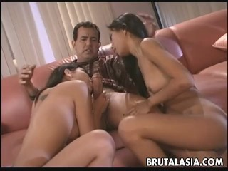 Sex bomb Asian sluts are getting fucked by one fella