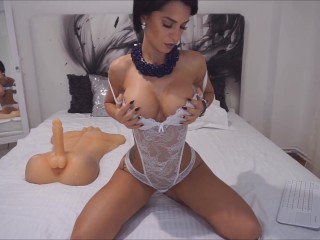 Anisyia Livejasmin twerking and passionately sucking enormous cock HD4K