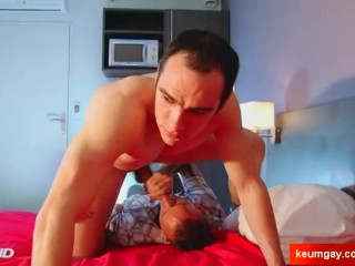 Full video: A innocent room service guy serviced his big cock by a guy!