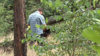 Preview 2 of german teen banged in the forest