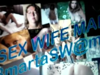 SexWife Marta congratulates the new year - in the process