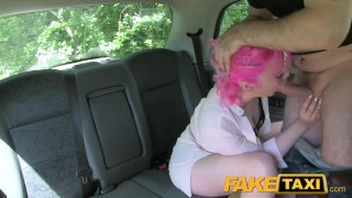 FakeTaxi Pink hair n wet pussy gets hammered  point of view british teen amateur blowjob public pov camera faketaxi spycam car reality rough gagging deepthroat young old