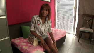 Comes for an interview and leaves dripping my goo  thai gogo girls thai pattaya redhead small tits skinny young interracial thailand teenager small boobs interview audition gogobarauditions