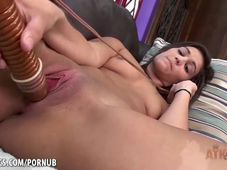Devyn Heart rubbing her wet little clit