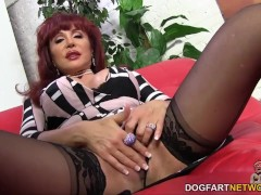 Hot cougar Sexy Vanessa gets creampied by BBC