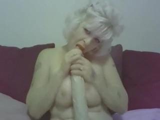 tit fucking my 18 inch dildo