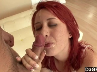 Dagfs - Redhead Can't Get Enough of Stepdaddy's Cock
