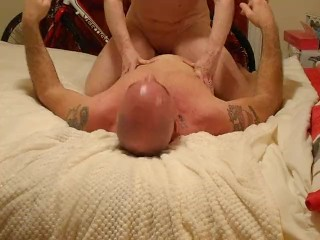 Milf gets eaten and rides cowgirl
