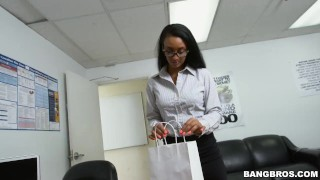 How to sexually harass your secretary properly  big ass teen babe glasses bangbros booty ebony pornstar hardcore young arianna knight butt teenager bangbrosnetwork