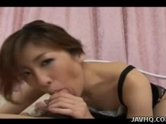 Slutty Asian slut sucking and licking his asshole