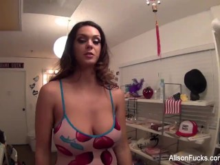 Behind the scenes with pornstars Alison and Nikita