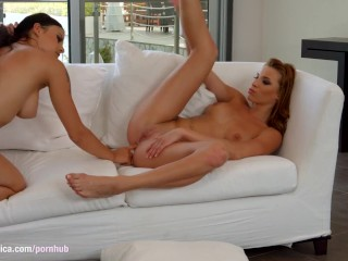Hot anal lesbian action from Sapphic Erotica featuring Victoria Daniels and