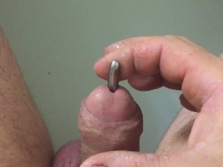 Urethral sound relaxed play and cock fucking