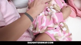 DaughterSwap - Daughters Fucked During Sleepover  dad blonde cumshot foursome orgy hardcore smalltits brunette daughter father shaved daughterswap facialize bigcock group facial