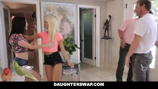 DaughterSwap - Daughters Fucked During Sleepover  blonde cumshot foursome orgy hardcore smalltits brunette daughter shaved facialize bigcock group facial daughterswap dad father