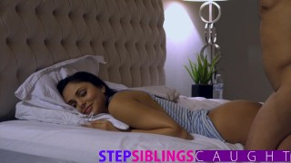 Sleeping sister gets pussy pounded and facial  riding babe step-brother blowjob cumshot pov hard-fast-fuck hardcore step-sister petite big-dick facial ariana marie little-sister very young faking