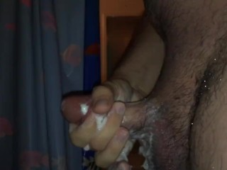Soapy Masturbation Plus Slow-Mo Cumshot