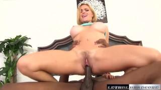 Black Cocks Matter - Krissy Lynn lets black cock stretch pussy