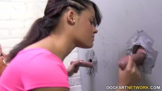 Aria Salazar sucks white strangers - Gloryhole  big tits ebony black blowjob gloryhole pornstar cumshot fetish busty hardcore kink interracial dogfartnetwork facial big boobs glory hole