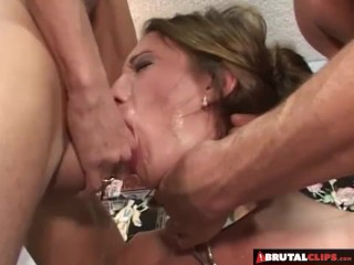 BrutalClips - Slut Gets Abused and Filled with Jizz