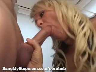 Mature Blonde Hooks Up With Stepson!