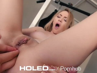 HOLED - Little blonde Angel Smalls goes hardcore and anal