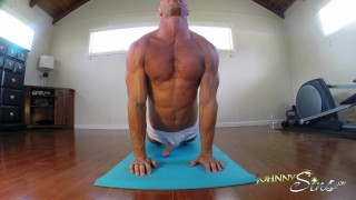 Preview 5 of Johnny Sins Jerks Off While doing Yoga