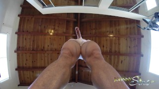 Preview 6 of Johnny Sins Jerks Off While doing Yoga