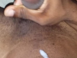 horny Jamaican jerk off big cum