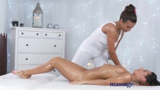 Preview 4 of Massage Rooms Stunning tanned lesbians have intense sensual orgasms