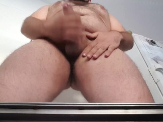 BearLikeBoy jacking off and making POV facial cumshot