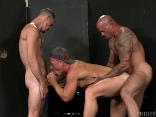 ExtraBigDicks Public Warehouse Threesome