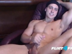 CJ Reed Cums All Over His Greek Godlike Body