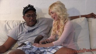 smallest chick takes 12 inch biggest black cock!  small girll massive interracialpass big-cock blonde skinny young blackzilla petite teenager tiny-girl dredd piper-perri massive cock