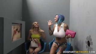 Anna Bell Peaks and Iris Rose suck BBC - Gloryhole  big black cock big tits mom gloryhole pornstar tattoo fetish busty young hardcore squirting interracial dogfartnetwork 3some mother teenager glory hole ffm fake tits threesome