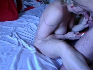 Milf Gets eaten, fucked and cums with cock in mouth