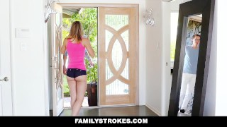 FamilyStrokes - College Bro Cums Home To Horny Sis  step sis step siblings big cock blonde cumshot skinny hardcore smalltits familystrokes petite shaved bigcock facialize facial step brother step sister