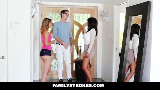 FamilyStrokes - College Bro Cums Home To Horny Sis step-siblings hardcore blonde big-cock shaved step-sis cumshot step-brother smalltits skinny familystrokes bigcock facialize petite step-sister facial