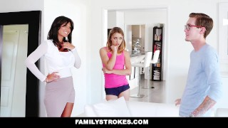 FamilyStrokes - College Bro Cums Home To Horny Sis  step-siblings big-cock step-brother blonde cumshot skinny hardcore smalltits familystrokes petite step-sister shaved step-sis bigcock facialize facial