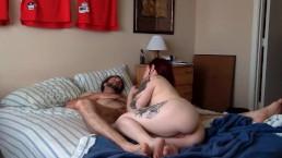 Tattooed Girlfriend Loves His Cock Deep
