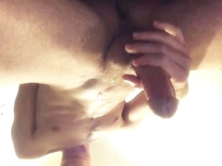 Hot cock cum all overthink chest