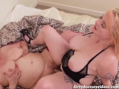 Two Filthy Lesbian Sluts Fucking A Large Double Ended Dildo