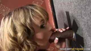 Busty Scarlett Monroe Sucks Gloryhole BBCs  big black cock big tits big cock blowjob gloryhole pornstar fetish busty hardcore kink interracial dogfartnetwork big boobs glory hole fake tits